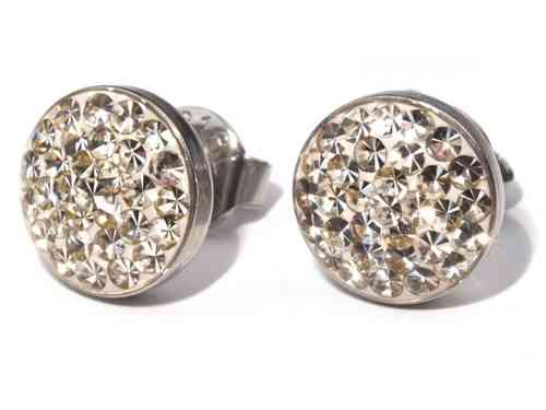 Earrings with Swarovski Stones, 10 mm