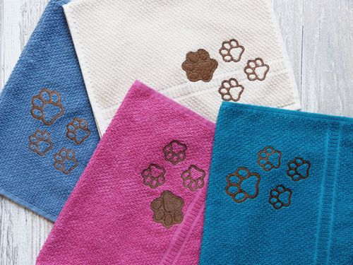 Create your own towel 30 x 50 cm  - Towel for Dogs - paw